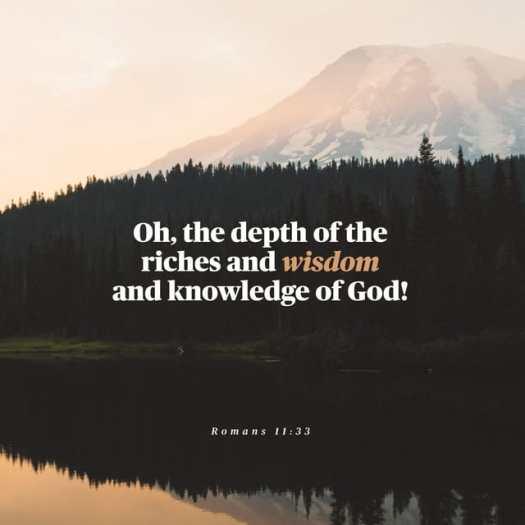 Romans 11:33 ESV