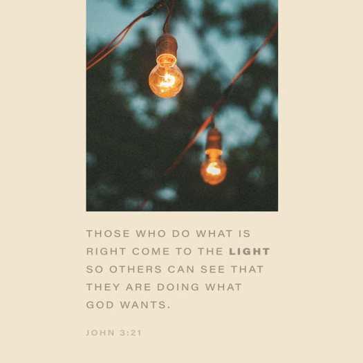 John 3:20-21 NLT