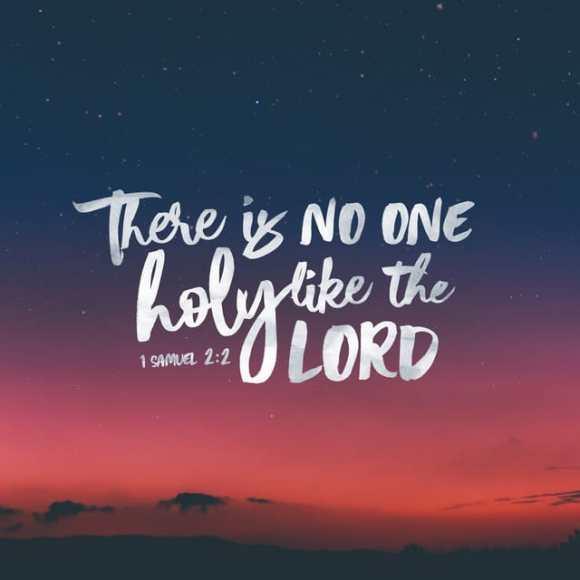 1 Samuel 2:2 NIV
