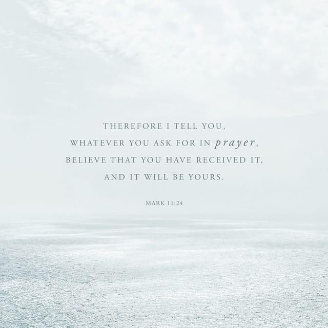 Mark 11:24 NIV