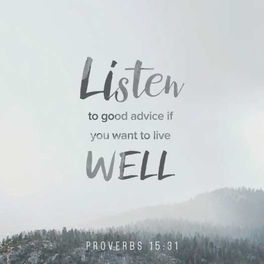 Proverbs 15:31 MSG