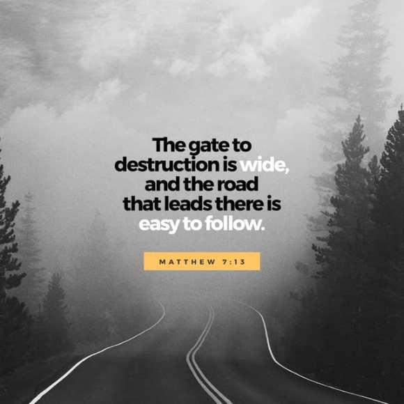 Matthew 7:13-14 CEV