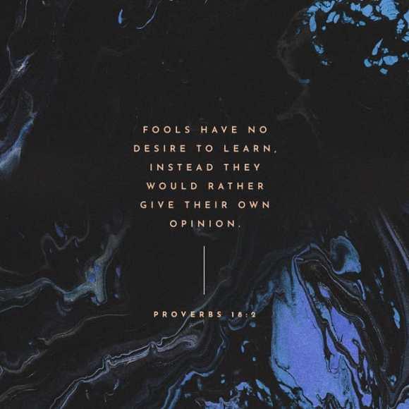 Proverbs 18:2 CEV