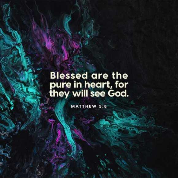 Matthew 5:8 NIV