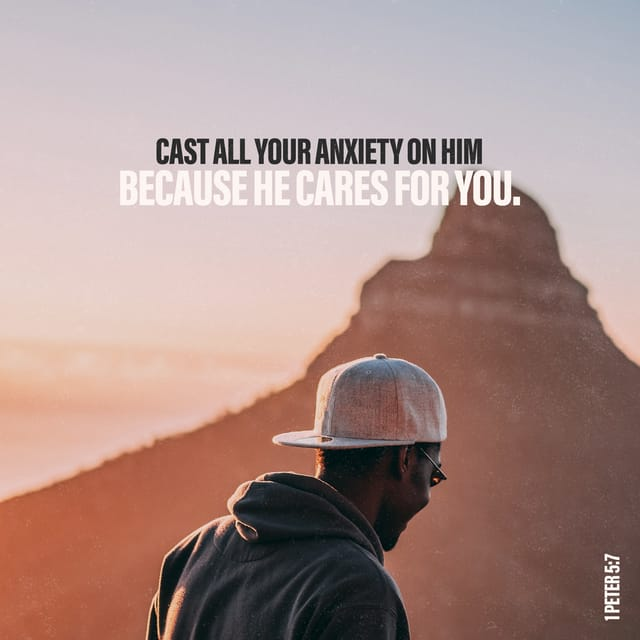 1 Peter 5:7 - https://www.bibl...