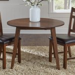 Aamerica Mason Round Drop Leaf Dining Table Conlin S Furniture Dining Tables