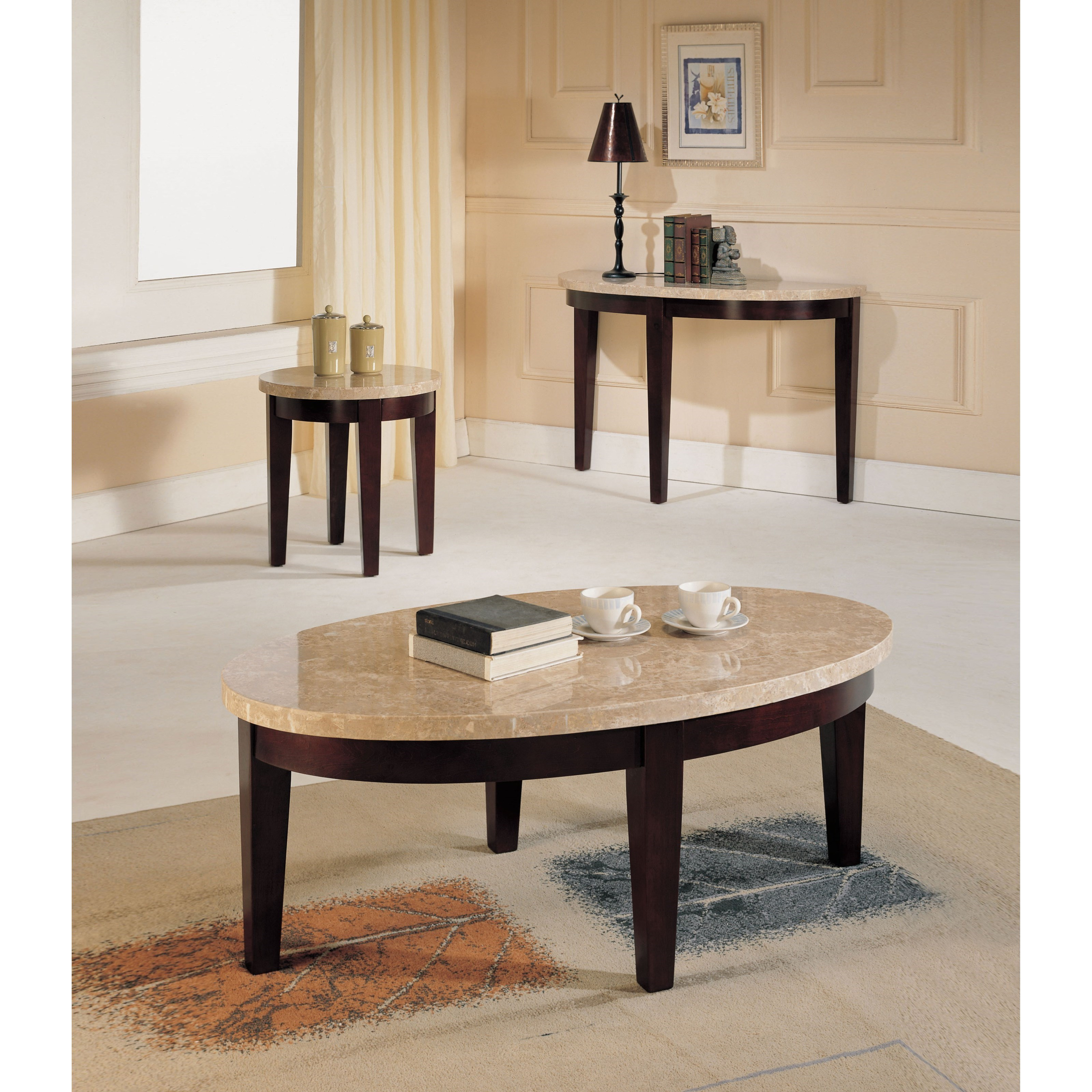 britney white oval marble top coffee table