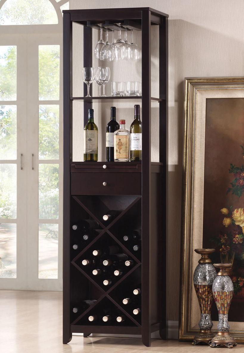 casey wenge wine cabinet tower