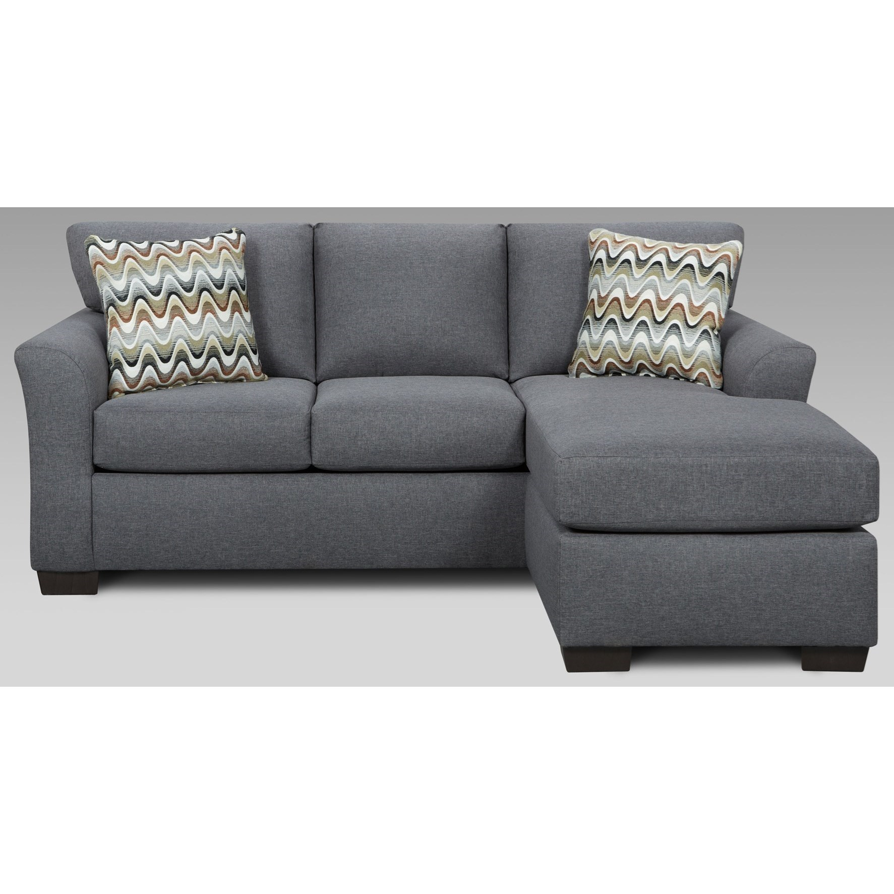 cosmopolitan 3900 transitional sofa with chaise and flared arms by affordable furniture at wilcox furniture