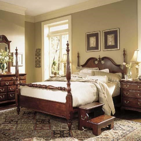 American Drew Cherry Grove 45th Queen Low Poster Bed Wayside Furniture Poster Beds