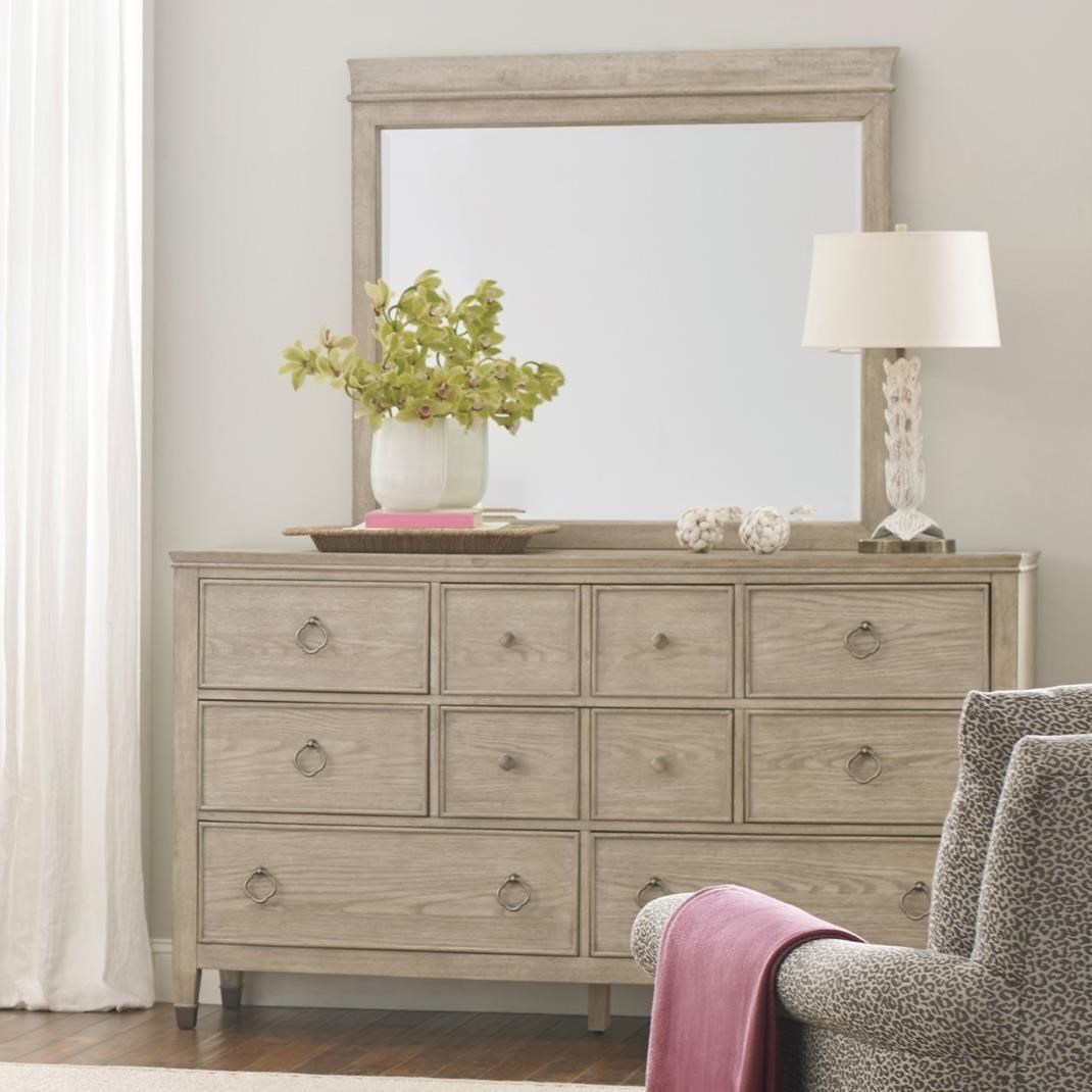 vista fremont dresser and mirror set