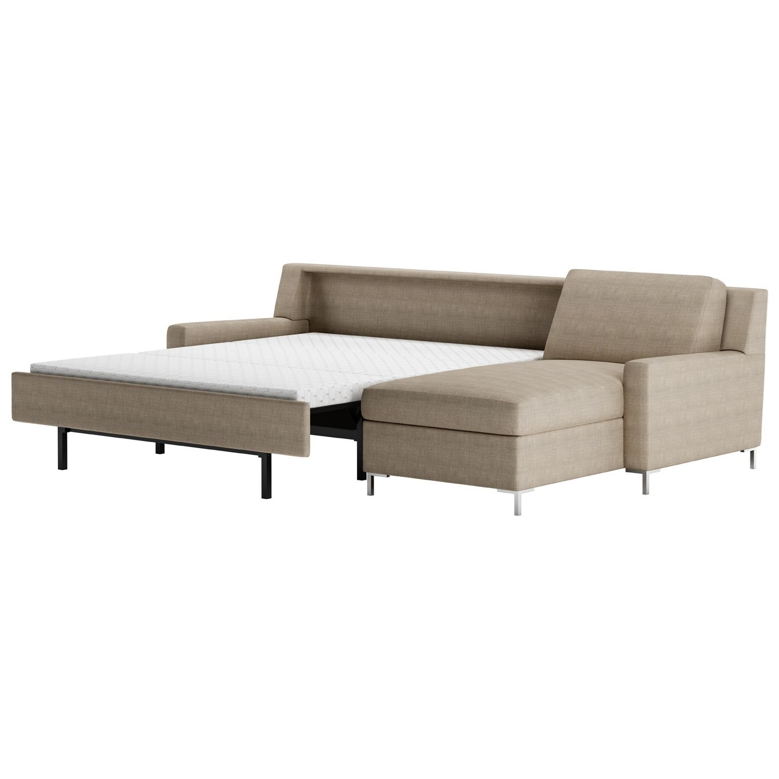American Leather Bryson Two Piece Sectional Sofa With Queen