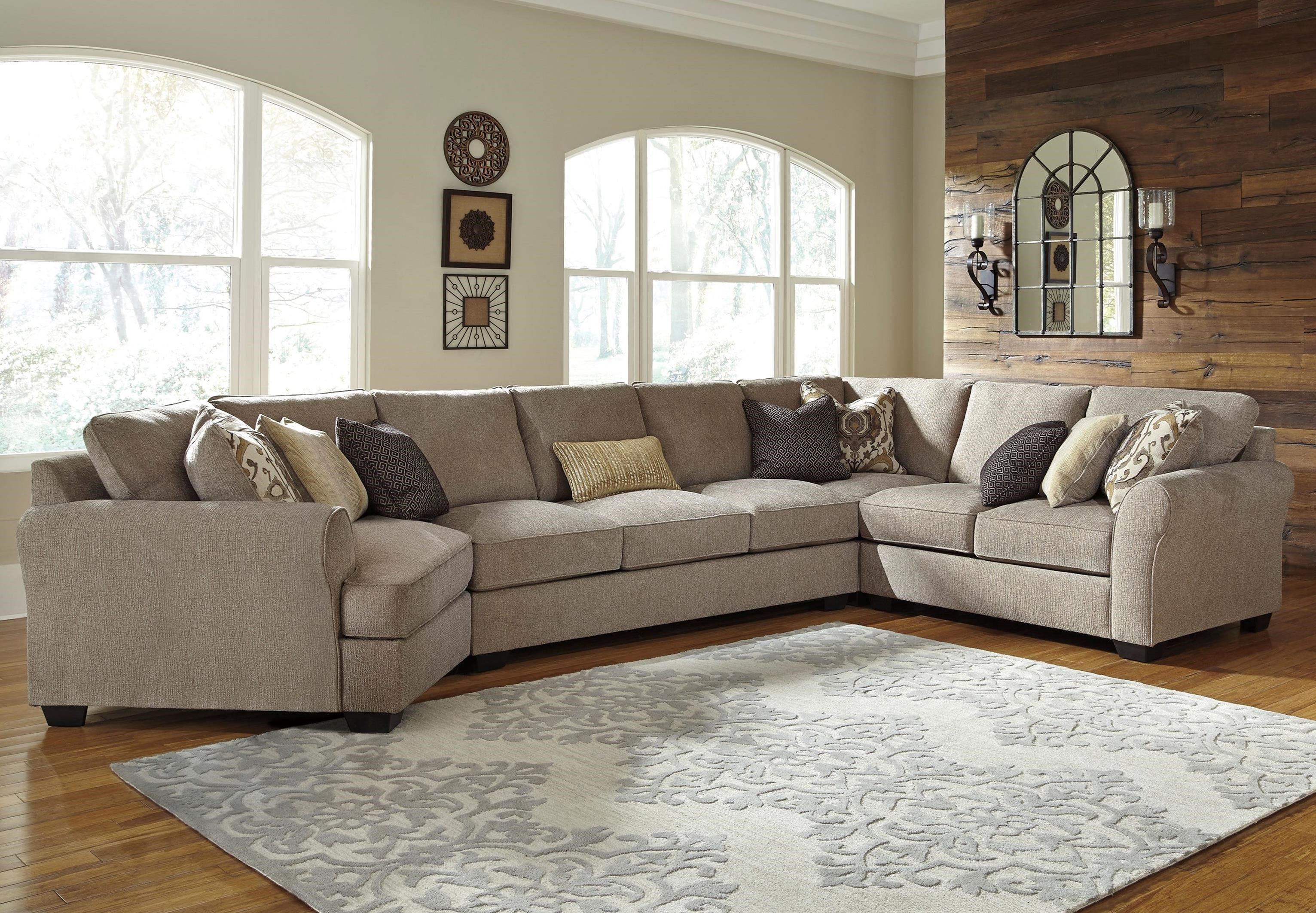 pantomine 4 piece sectional w cuddler arrnless sofa