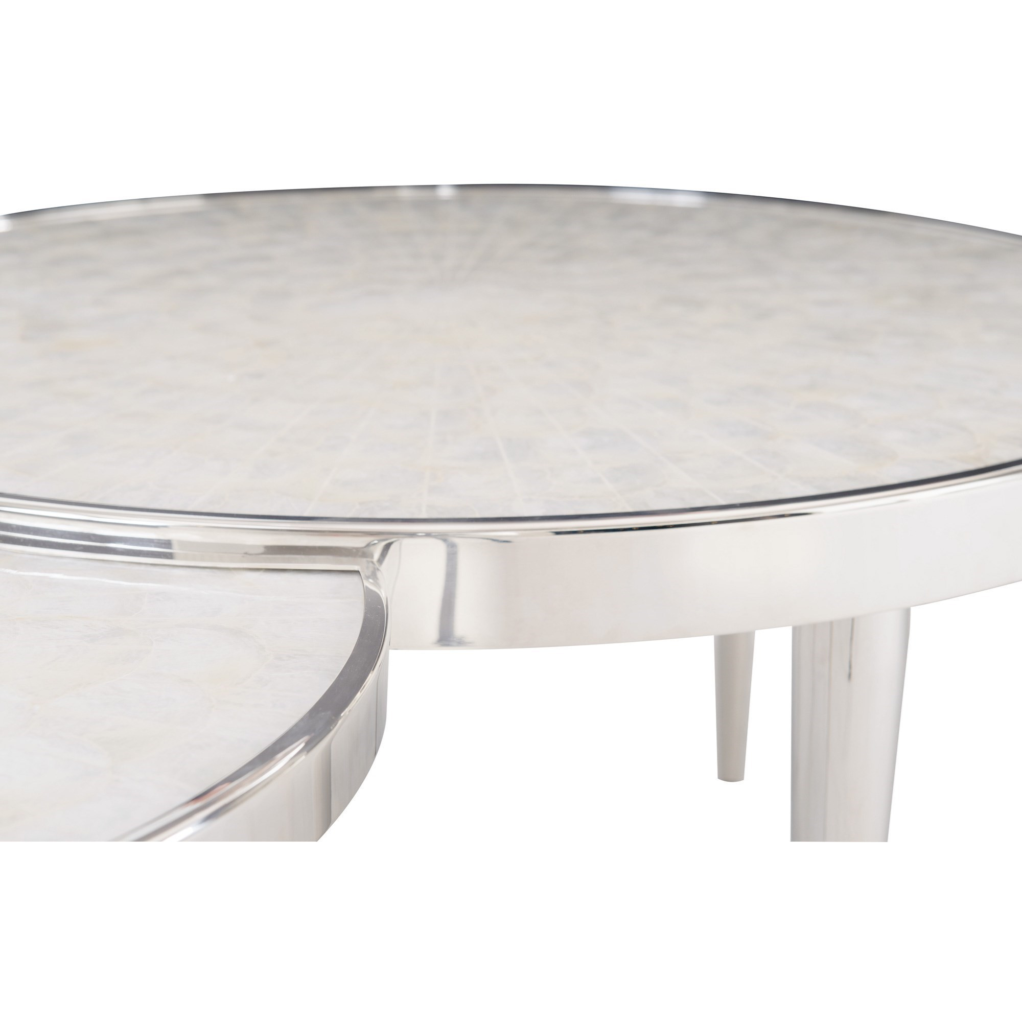 interiors ornette stainless steel cocktail table