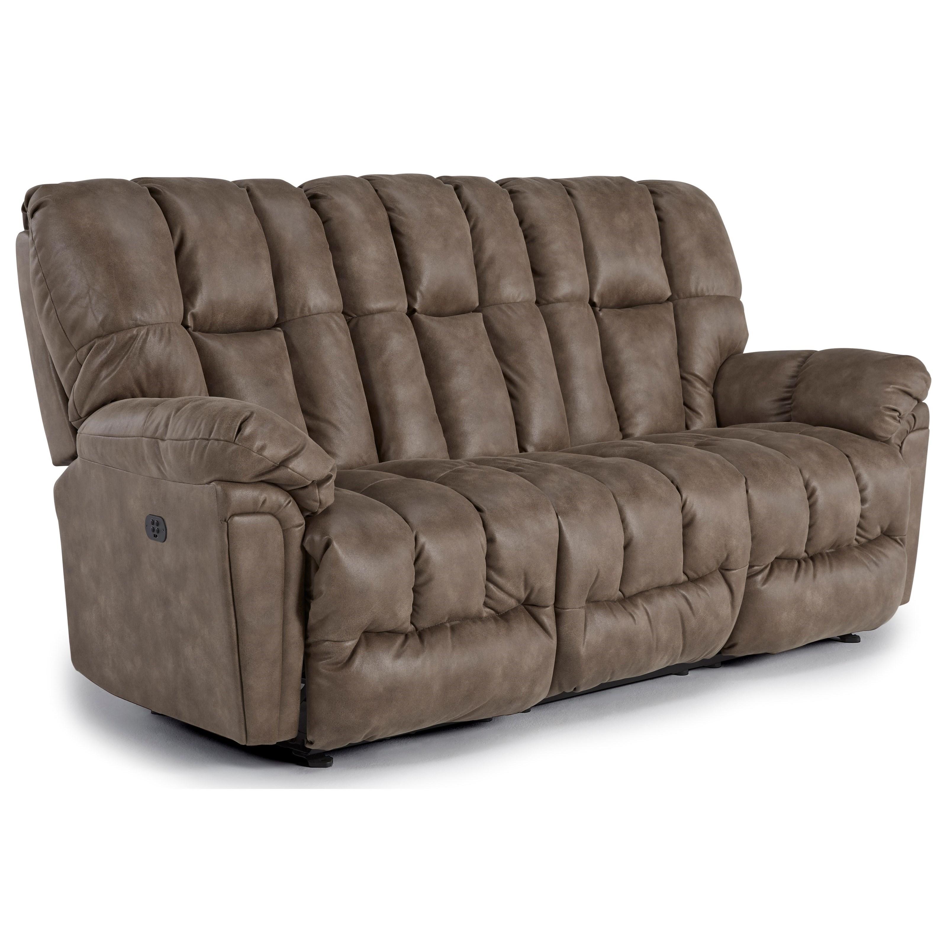 lucas casual plush reclining sofa