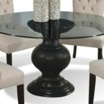 Cmi Serena 60 Round Glass Dining Table With Pedestal Base Wayside Furniture Dining Room Table