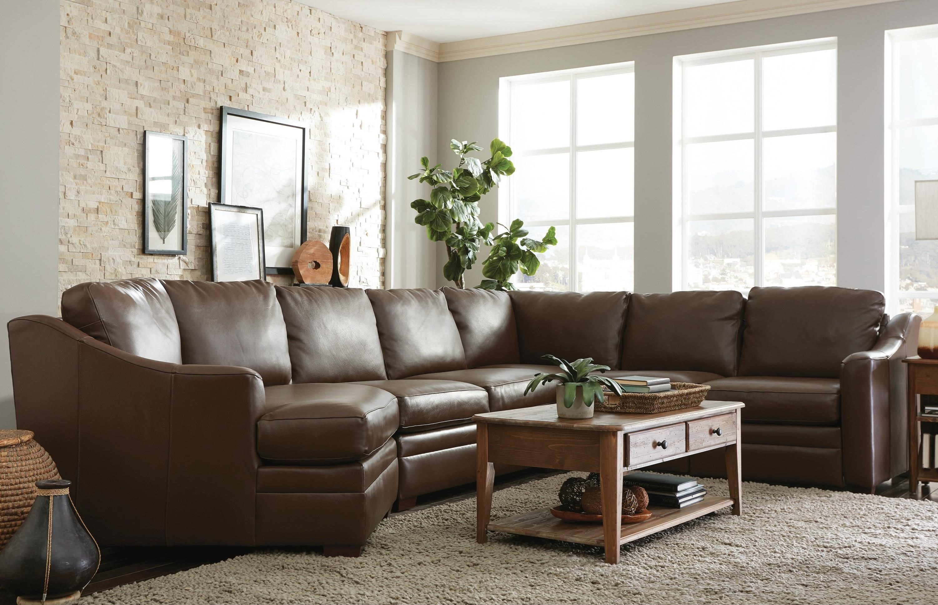 piece leather sectional sofa