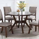 Crown Mark Barney Mid Century Modern Round Dining Table Royal Furniture Dining Tables