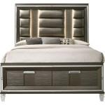 Elements Twenty Nine Glam King Low Profile Storage Bed With Upholstered Headboard Royal Furniture Platform Beds Low Profile Beds