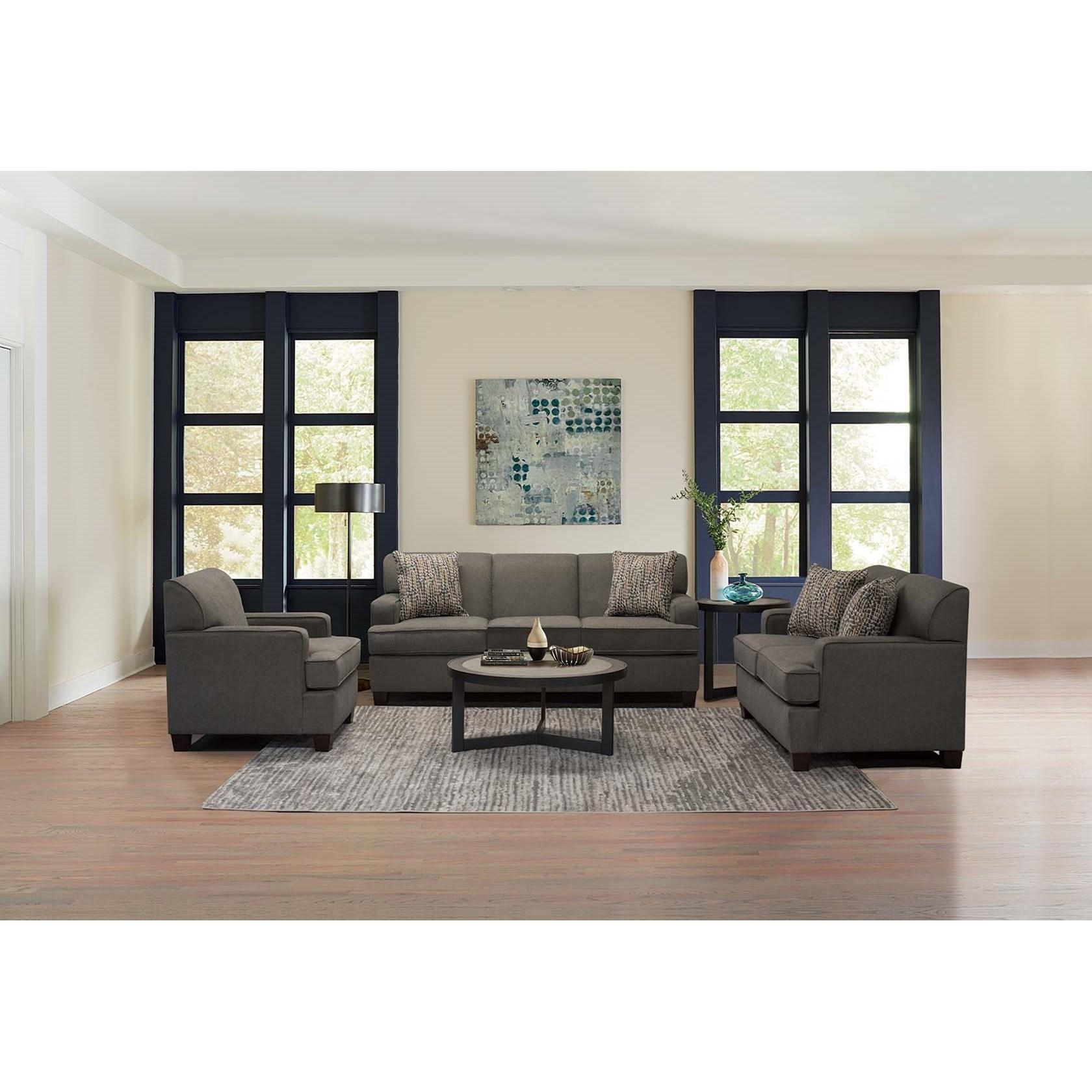England Ember Transitional Living Room Group Esprit Decor