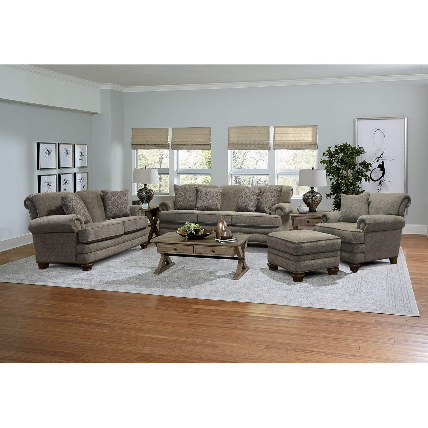 England Reed Traditional Loveseat With Nailhead Trim