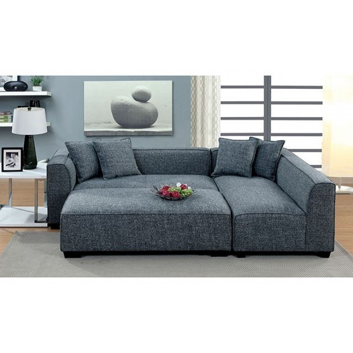 jaylene sectional and ottoman set