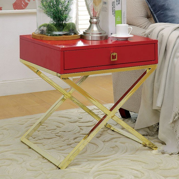 Furniture Of America Rhona Contemporary Side Table With