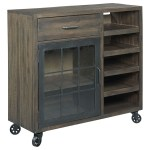 Hammary Hidden Treasures Rustic Bar Trolley With Metal Casters Sheely S Furniture Appliance Accent Chests