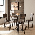 Hillsdale Jennings Rustic 5 Piece Counter Height Dining Set With Swivel Stools Novello Home Furnishings Pub Table And Stool Sets