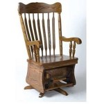 Horseshoe Bend Amish Rocking Chairs Customizable Solid Wood Grandfather Mother Swivel Glider Wayside Furniture Wood Rockers