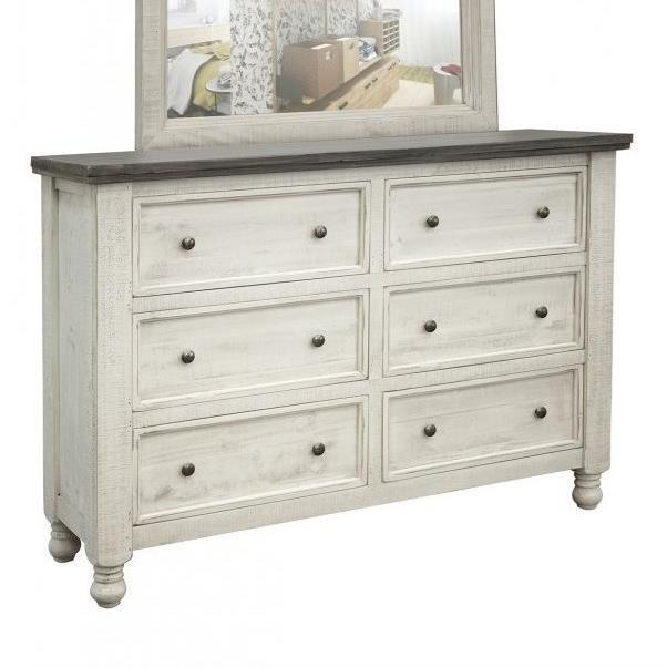 stone 6 drawer dresser
