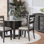 Jofran Altamonte 48 Round Glass Dining Table With 4 Chairs Reeds Furniture Dining 5 Piece Sets