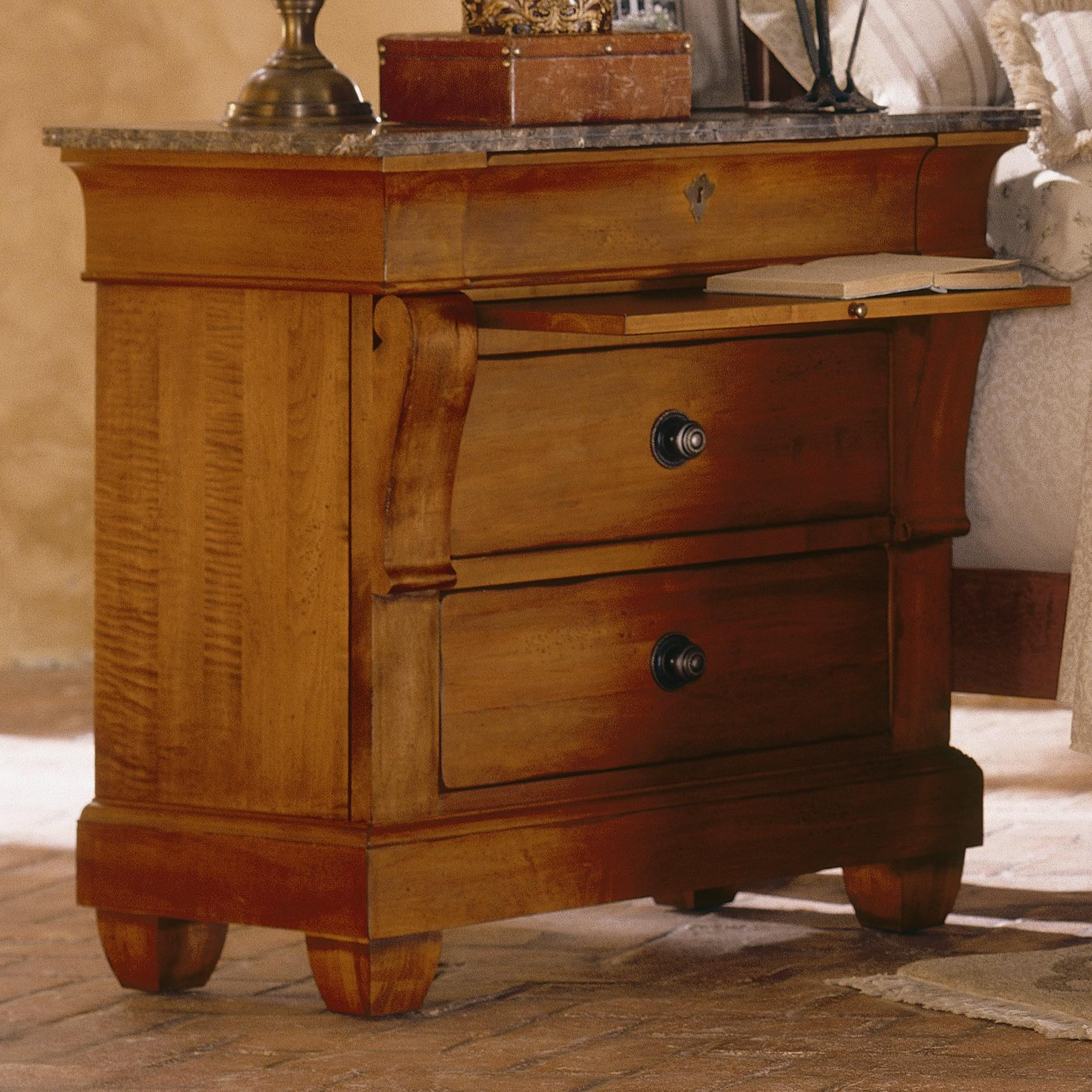 Kincaid Furniture Tuscano Bedside Chest With Marble Top