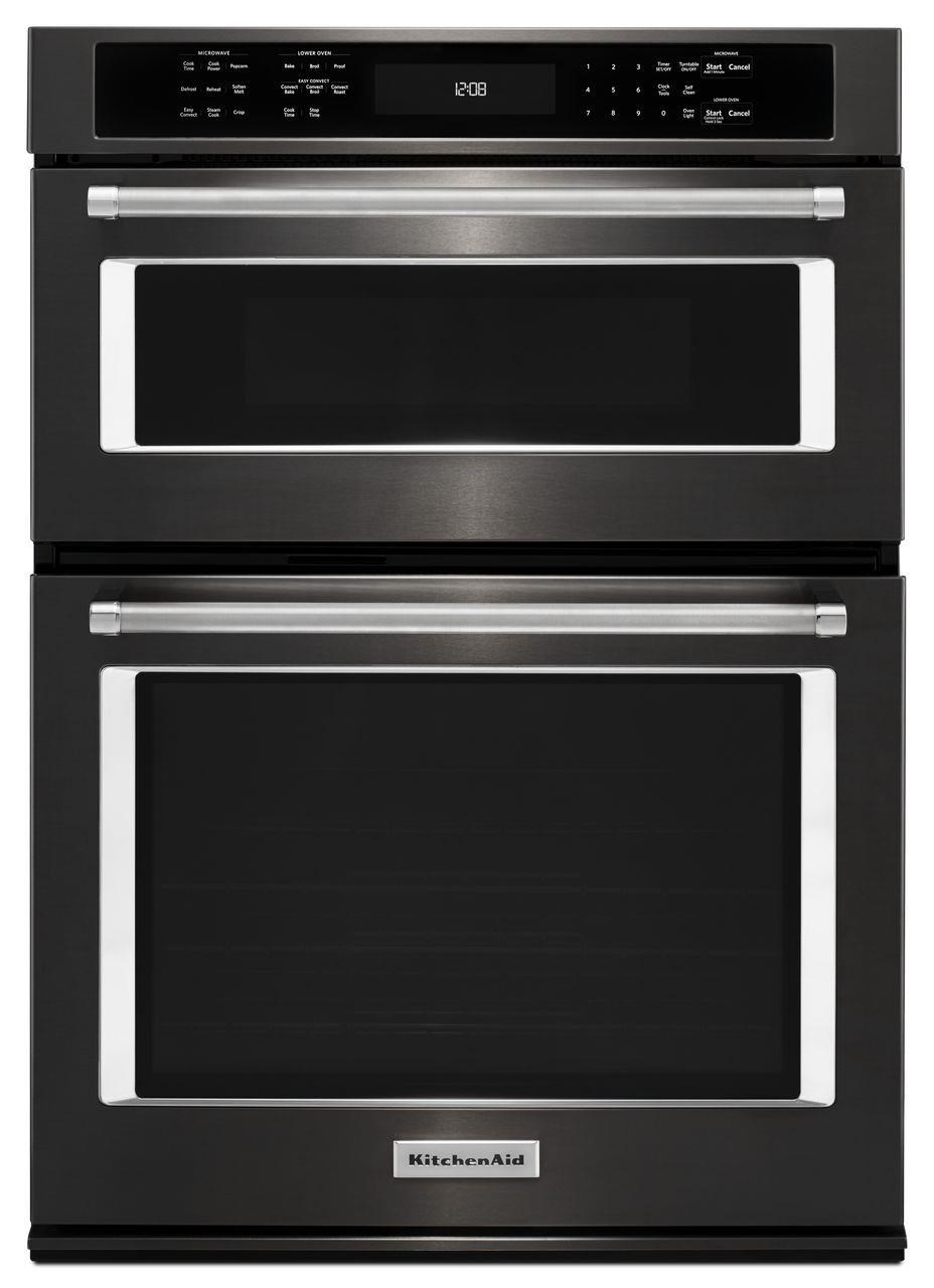 combination oven with microwave 30 5 0 cu ft convection oven microwave comination with glass touch control panel by kitchenaid at furniture and