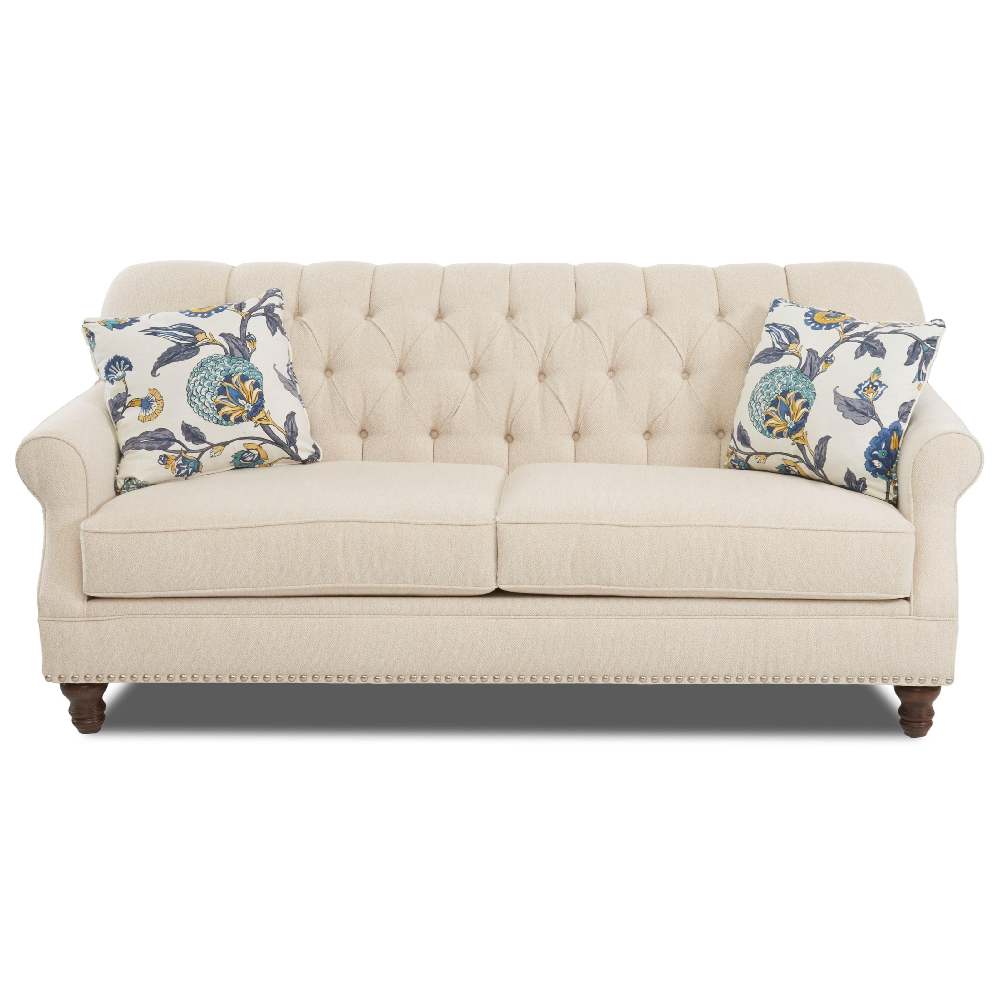 burbank sofa w nailheads