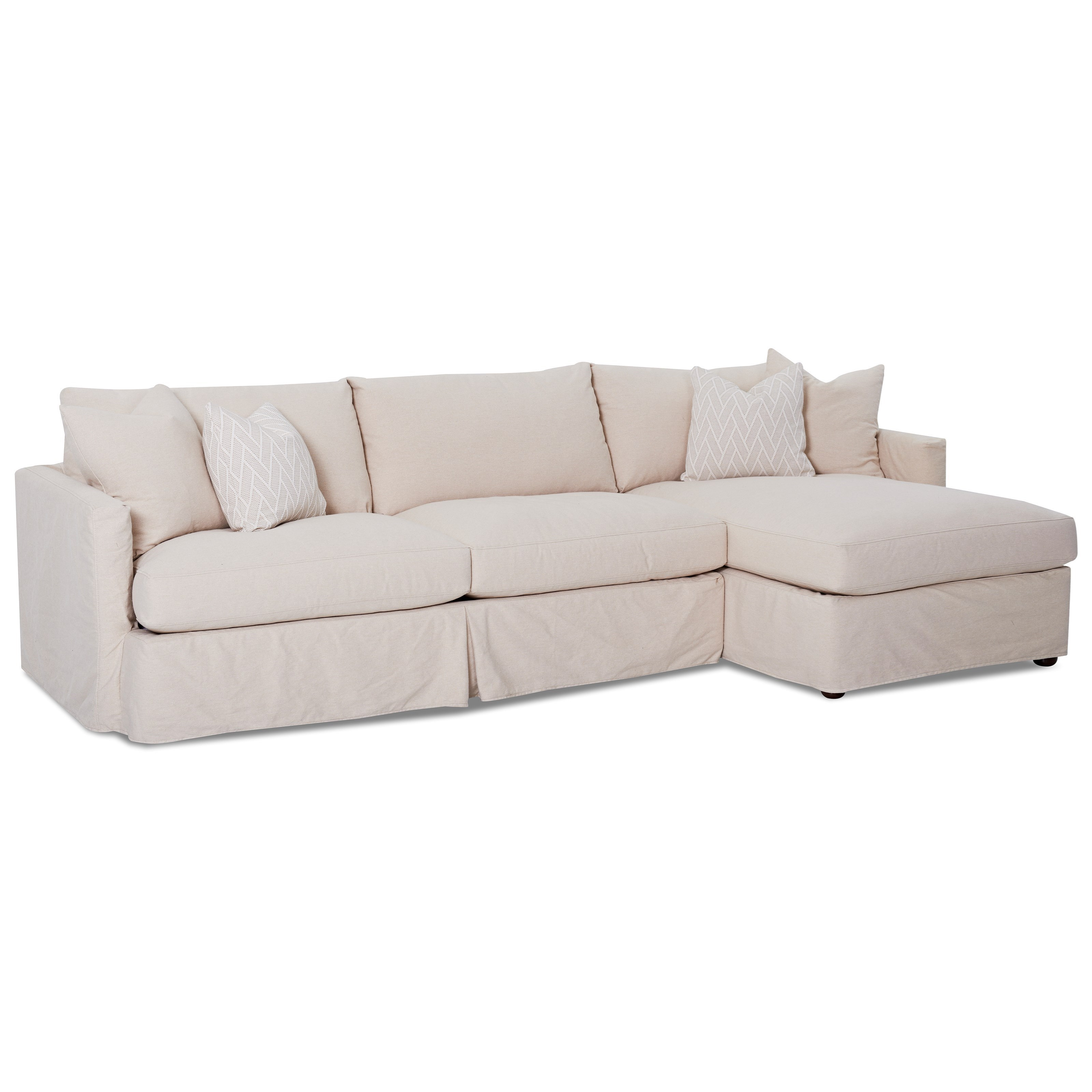 2 pc sectional sofa with slipcover