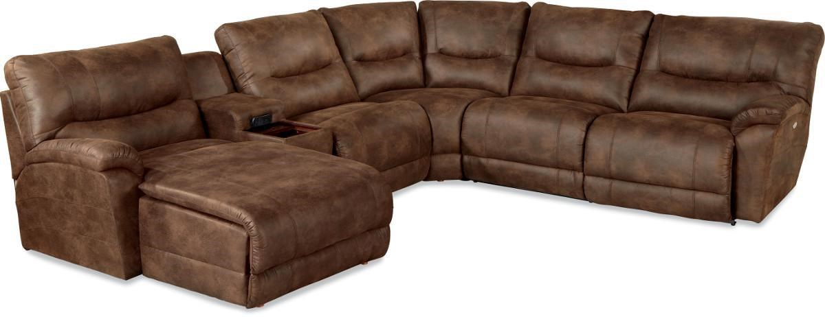 la z boy dawson6 pc power reclining sectional w las chaise