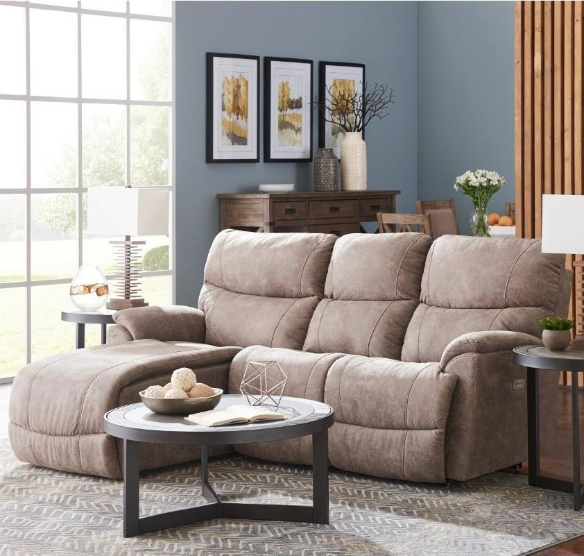 la z boy trouper2 pc reclining sectional sofa w ras chaise