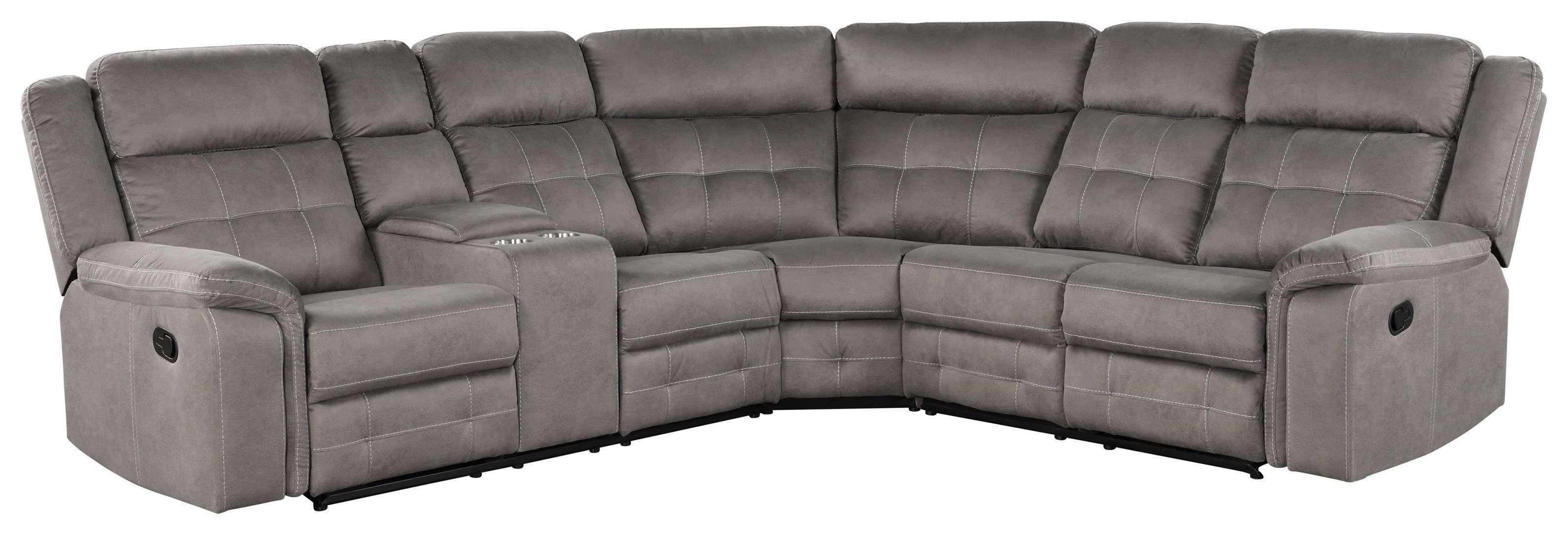 keystone 3pc reclining sectional