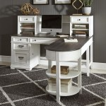 Liberty Furniture Allyson Park Transitional L Shaped Desk With Hutch Wayside Furniture Desk Hutch Sets