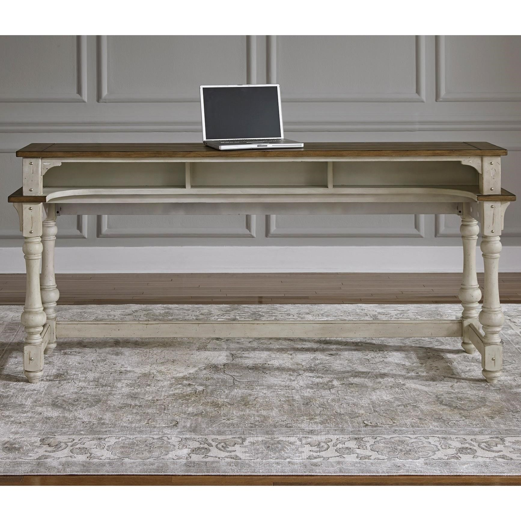 Liberty Furniture Morgan Creek Relaxed Vintage Console Table With Storage Johnny Janosik Sofa Tables Consoles