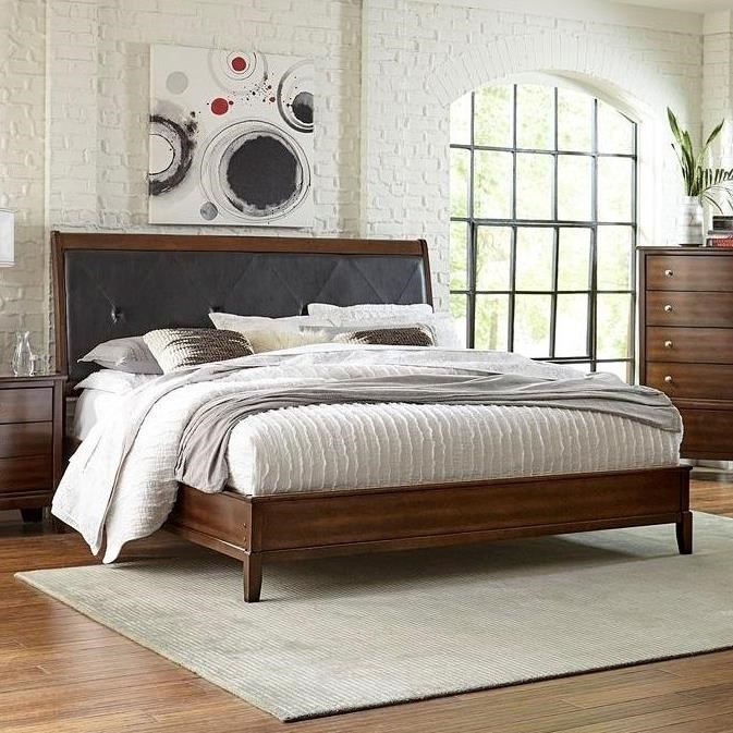 stacey king upholstered headboard bed