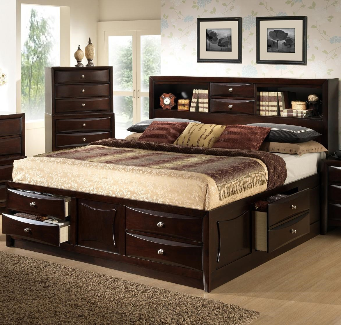 Todd Queen Bookcase Bed With Storage