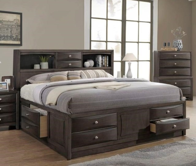 Lifestyle Todd Grayqueen Storage Bed