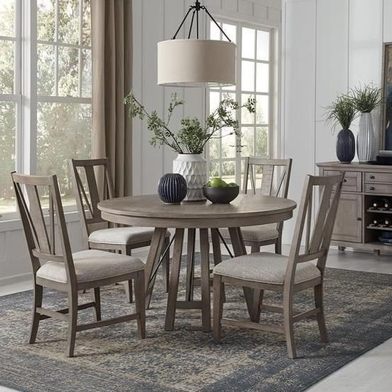 Magnussen Home Paxton Place 5 Piece Dining Set With Round Table Wayside Furniture Dining 5 Piece Sets