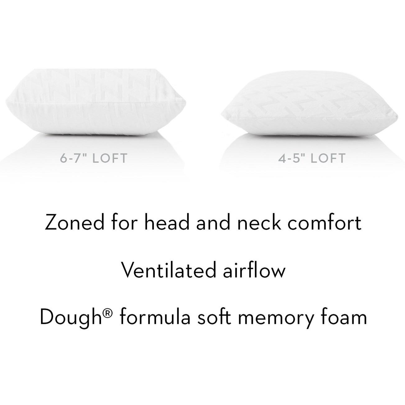 zoned dough king zoned dough mid loft plush pillow