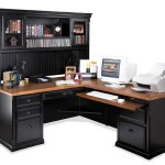 Kathy Ireland Home By Martin Southampton L Shaped Executive Desk With Right Facing Return And Deluxe Hutch Reeds Furniture L Shape Desks