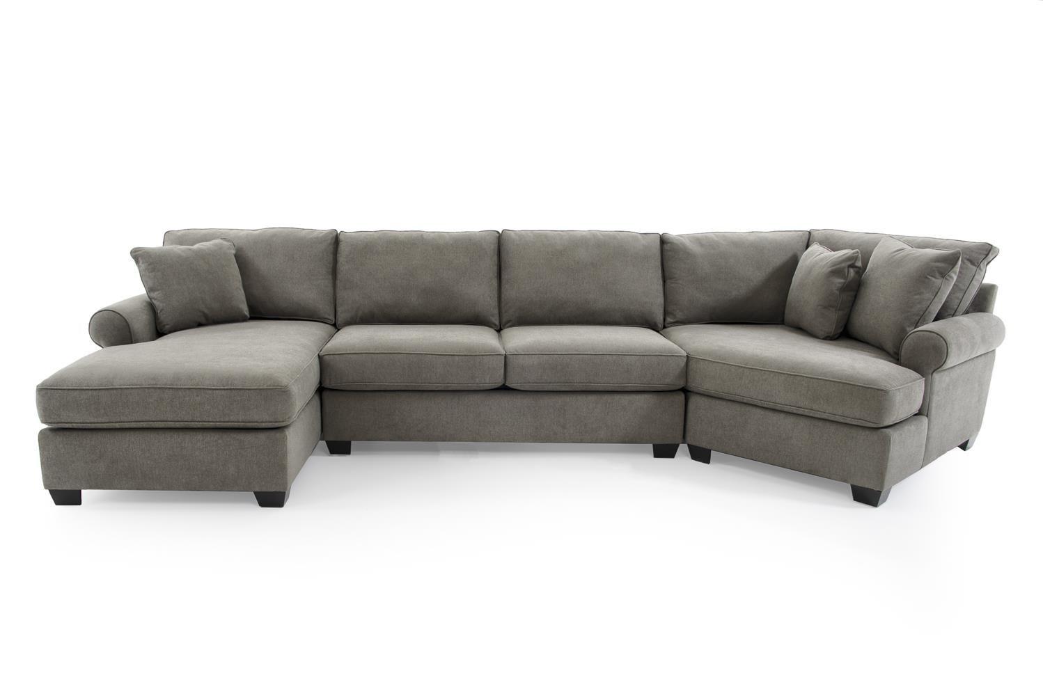 jessica casual three piece sectional sofa with cuddler by max home at baer s furniture