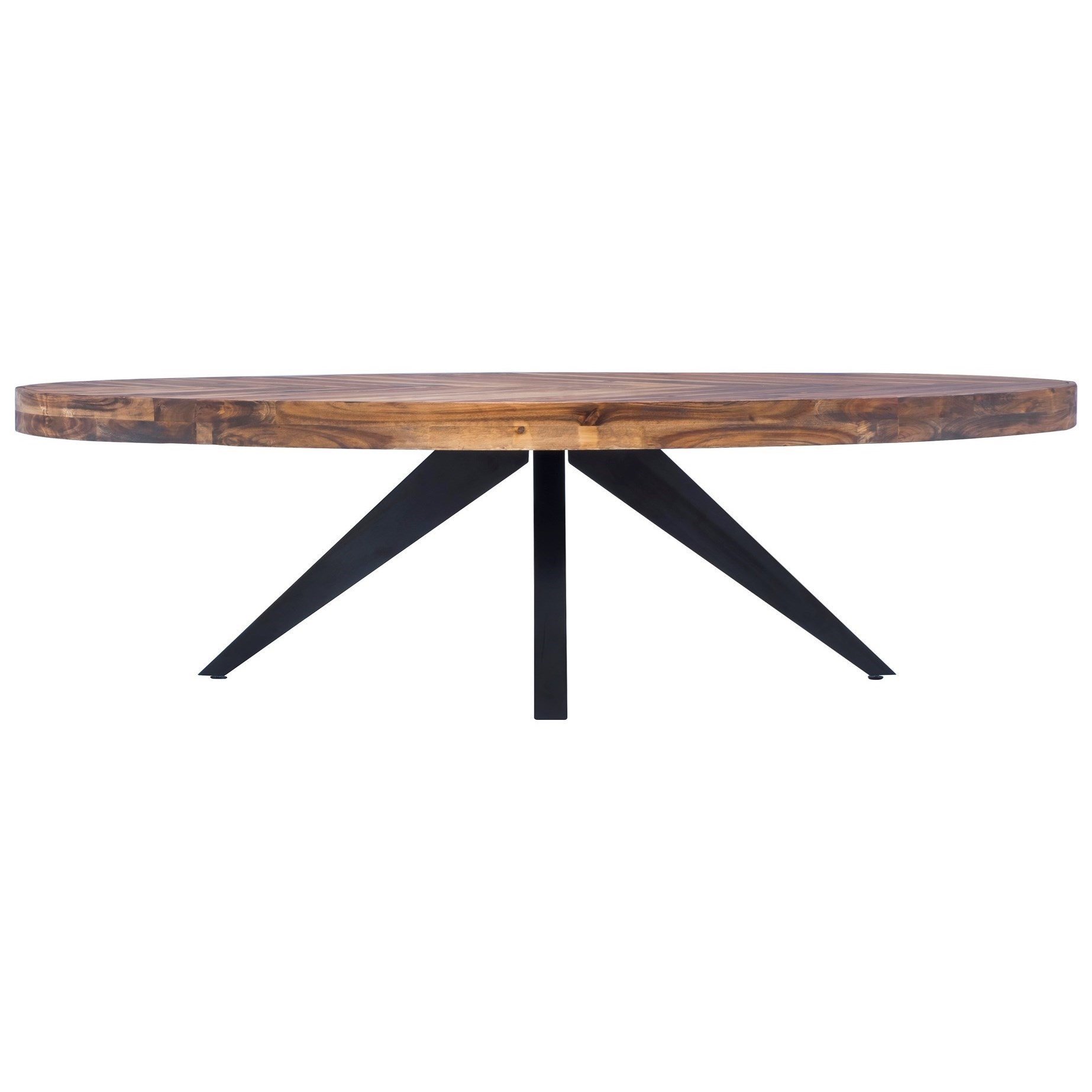 parq rustic oval coffee table