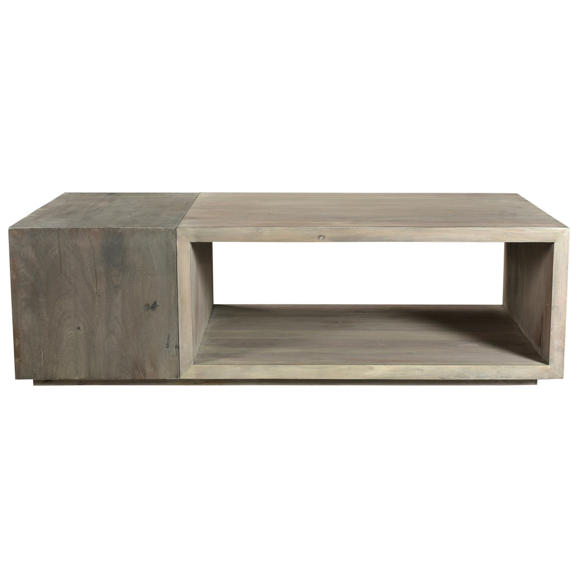 contemporary solid wood coffee table